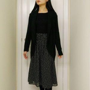 Vintage 100% Silk Midi Skirt
